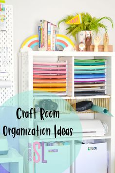 Craft Room Organization Ideas  Do you have a problem utilizing all the space in your craft room? I have simple and easy ideas to keep your craft room organized and space utilized so that you can store all your craft items within reach. Organize your craft room with ease with these tips and tricks. #seelindsay #organize #craftroom #dymo #craftstorage #cricutmade #cricutorganizationideas #craftroomorganization