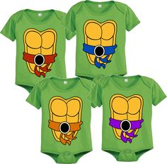 Teenage Mutant Ninja Turtles Green Costume Infant Baby Onesie Romper - Teenage Mutant Ninja Turtles - | TV Store Online
