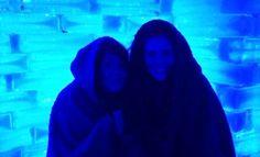 Keeping warm at Boals Ice Bar in Benalmadena