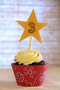 Cowboy birthday cupcakes