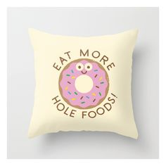 Do's And Donuts Throw Pillow ($20) ❤ liked on Polyvore featuring home, home decor, throw pillows and graphic throw pillows