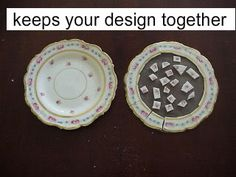 """How to """"nip"""" out pieces of china to make those stepping stones"""