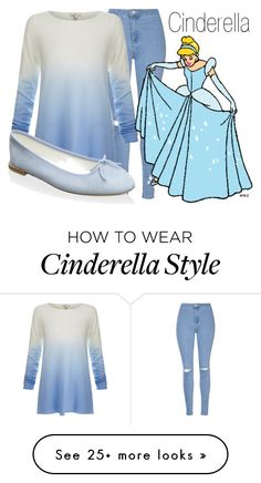 """Cinderella~ DisneyBound"" by basic-disney on Polyvore featuring Glamorous, Joie, Disney and Repetto"