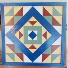 Barn quilt on wood for the side of the garage