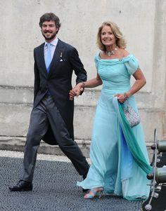 Prince Antonius von Fürstenberg with her mother Fûrstin Maximiliana zu Windish-Greatz on his wedding day with countess Matilde Barromeo