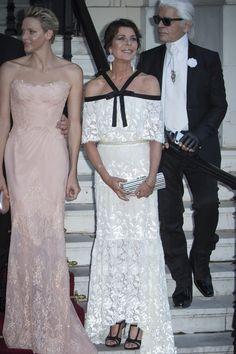 Charlene Wittstock, Carolina de Mónaco y Karl Lagerfeld