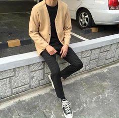 Korean Fashion Men, Kpop Fashion, Asian Fashion, Daily Fashion, Mens Fashion, Fashion Outfits, Cool Outfits, Casual Outfits, Style Masculin