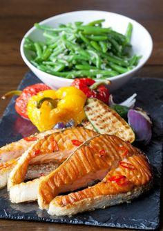 @GuinnessIreland BBQ Salmon Steaks w/ French bean salad. #StoutDay #recipes