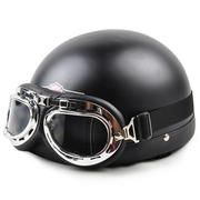 Open Face Half Motorcycle Helmet & Goggles – TShirtsRUS.co
