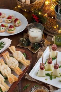 Tres Aperitivos fáciles y originales para Navidad - Shoot the Cook - Recetas fáciles y trucos para fotografiar comida Bbq Party, Fiesta Party, Deli Food, Charcuterie, Finger Foods, Catering, Brunch, Appetizers, Food And Drink