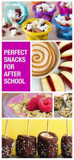 Here are some healthy snack for your kids after a long hard day at school.