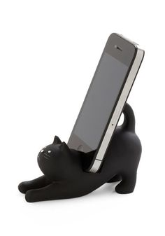 Your feline-deprived desk needs this Kitty Cat Smartphone Stand...I know MINE does!