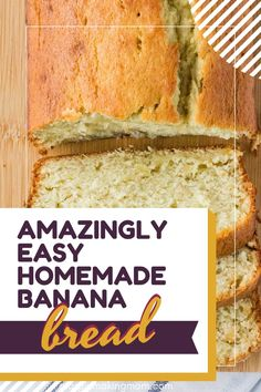 Not only is this the easiest banana bread recipe, but it's also the most moist, thanks to the addition of sour cream. It's one every home cook should make! Sour Cream Banana Bread, Easy Banana Bread, Easy Bread, Banana Bread Recipes, Impressive Desserts, Easy Desserts, Delicious Desserts, Yummy Food, Quick And Easy Breakfast