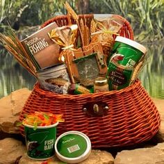 Fisherman's Gift Basket my father n law will be getting this for his bday