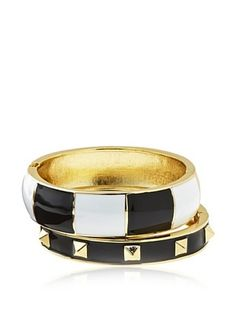 55% OFF Chloe & Theodora Hinge Cuff Bangle Set