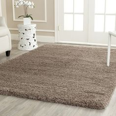more colors  Found it at Wayfair - Shag Taupe Area Rug