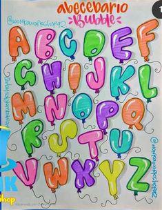 Bullet Journal Alphabet, Bullet Journal Lettering Ideas, Journal Fonts, Bullet Journal Writing, Bullet Journal Ideas Pages, Graffiti Lettering Fonts, Hand Lettering Alphabet, Lettering Styles, Lettering Design