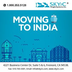 Sky2c is one of the industry's leading moving companies, offering extremely affordable rates for freight shipping or relocation from USA to India.