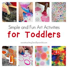 simple art for toddlers - fun playful activities to help toddlers feel comfortable at the art table | Teaching 2 and 3 Year Olds