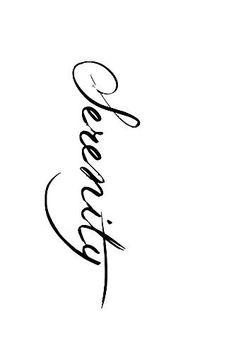 Piercings, Piercing Tattoo, Serenity Tattoo, Muster Tattoos, Serenity Now, Single Words, Cool Tattoos, Tatoos, Arrow Tattoos