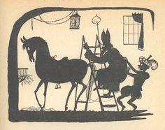Uit: Sinterklaas blijft een zomer over (Henriette van Eijk) ill. Wim Bijmoer
