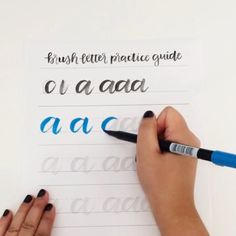 Want to get better at brush lettering? Get practicing with this guide! http://shop.randomolive.com/brushpractice?utm_content=buffer6deb5&utm_medium=social&utm_source=pinterest.com&utm_campaign=buffer. #brushlettering
