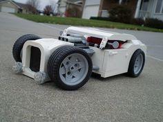 """LEGO Hot Rod """"White Hot"""" by />ylan/>., via Flickr"""