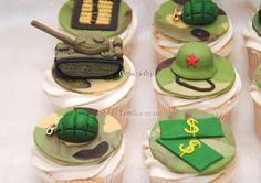 Капкейки на 23 февраля - Кондитерская - Babyblog.ru Fondant Cupcakes, Cupcake Cakes, 23rd Birthday, Cake Designs, Cupcake Toppers, Cake Decorating, Army, Messages, Healthy Recipes