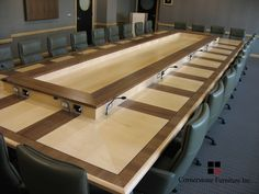 Custom Made Bronson Executive Boardroom Table Meeting Table, Office Meeting, Conference Table, Vintage Marketplace, Handmade Furniture, Table Furniture, Tables, Home Decor, Artisan