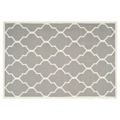 Check out this item at One Kings Lane! Alaric Dhurrie, Gray/Ivory