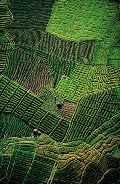 No wonder it's called the Emerald Isle.  This aerial view of Irish fields looks like a green patchwork quilt..