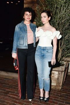 Alia Shawkat and Zoe Lister Jones - Sally Singer and Lisa Love Denim Dinner in Los Angeles
