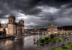 Plaza de Armas, Cuzco, on a wet afternoon Bolivia, The Places Youll Go, Places To Go, Trekking Holidays, Peru Travel, World Heritage Sites, The Good Place, Scenery, The Incredibles