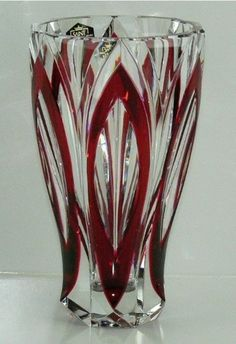 "6 75"" St Louis Cristal France Red Art Glass Crystal Vase Mint | eBay Red Glass, Glass Vase, Saint Louis Crystal, Gold Cost, Cranberry Glass, Glass Artwork, Crystal Vase, Red Art, Burgundy Wine"