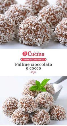 Palline #cioccolato e #cocco