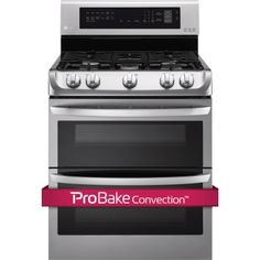 6.9 cu. ft. Gas Double Oven Range with ProBake Convection™, EasyClean® and Gliding Rack