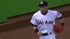 Ichi-throw.   On night he's going for 3,000 hits, Miami Marlins OF Ichiro Suzuki shows off the arm with vintage throw home to get St. Louis Cardinals' Kolten Wong. http://atmlb.com/2aDAQpE‌