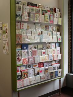 27 best card display images on pinterest card displays shop this case was suspended with little legs and filled with acrylic card holders to create this greeting card display at chicagos women children first m4hsunfo