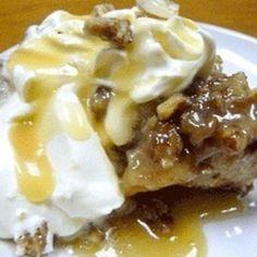 Praline Pecan Bread Pudding with Rum Sauce #recipe | Justapinch.com