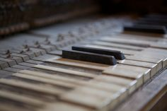 old piano keys.