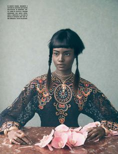 Culture Remix --- Malaika Firth & Lera Tribel by Sølve Sundsbø for Vogue Italia March 2014