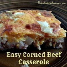 Corned Beef Casserole - Think Father's Day Breakfast :)