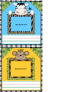 Jungle themed cubby labels