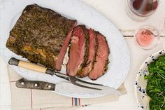 Indulge in Maggie Beer's recipe of slow roasted scotch fillet with vino cotto and rosemary!