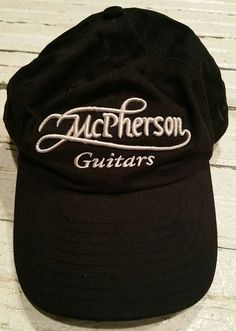 ffe43a88612 McPherson Guitars Custom Black New Era Cap Hat Adjustable embroidered music
