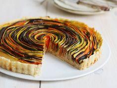 Спиральный тарт с овощами