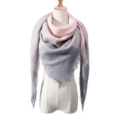 Designer 2018 new winter scarf for women shawls plaid ladies cashmere scarves pashmina echarpe neck warm Triangle bandana Cowl Scarf, Pashmina Scarf, Plaid Scarf, Scarf Head, Blanket Scarf, Tartan, Cashmere Shawl, Plaid Fashion, Fashion Scarves