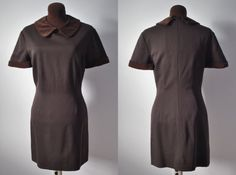 Vintage 1950s 50s fifties 1960s sixties 60s brown by APetiteFlower
