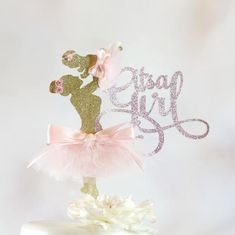 It's A Girl Cake Topper - Baby Shower Cake Topper - Its A Girl Party Decorations - Ballerina Cake Topper - Girl Baby Shower Cake Topper Ballerina Baby Showers, Baby Ballerina, Ballerina Cakes, Baby Shower Princess, Fiesta Shower, Shower Party, Baby Shower Parties, Baby Shower Themes, Shower Ideas