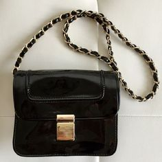 Ivanka Trump black patent small purse clutch bag Ideal for going out at night Ivanka Trump Bags Clutches & Wristlets